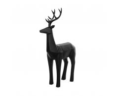 Statuetta decorativa color nero opaco PRANCER