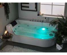 Vasca da bagno bianca con idromassaggio ACUARIO