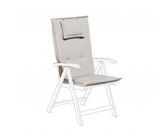 Cuscino per sedia da giardino TOSCANA grigio beige