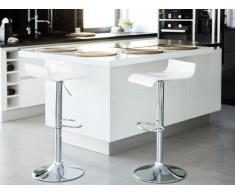 Set di 2 sgabelli da bar in colore bianco VALENCIA