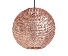 Lampada da soffitto con paraluce in metallo color rame - SEINE
