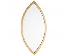 Specchio da parete 97 x 51 cm in color oro FUTUNA