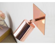 Lampada da parete in metallo color rame TIGRIS