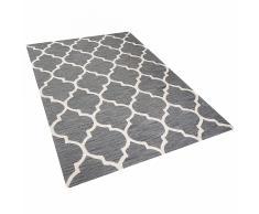 Tappeto rettangolare grigio - Tappeto moderno di design - 160x230 cm - YALOVA