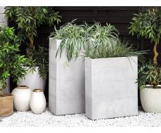 Set di 2 vasi per piante in color bianco THIMENA