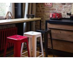 Sgabello da bar in metallo bianco - Sgabello design da cucina - 76cm - CABRILLO