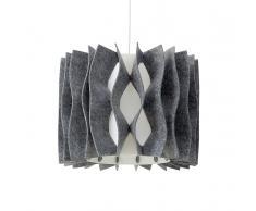 Lampada da soffitto moderna in plastica grigia - MOZA
