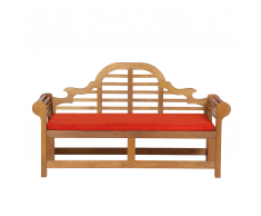 Panchina legno Balau bianco alta qualità e cuscino terracotta 180cm JAVA Marlboro
