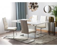 Tavolo da pranzo estendibile bianco 160/200x90cm SANTANA
