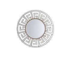 Specchio da parete dorato ø70 cm FLERS