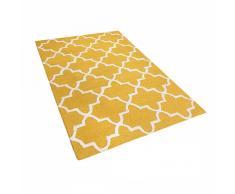 Tappeto giallo in cottone 160x230 cm SILVAN