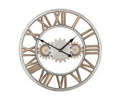Orologio da parete color argento e oro SEON