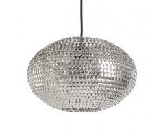 Lampada da soffitto con paraluce in metallo color nichel - REINE