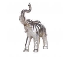 Statuetta decorativa a forma di elefante color argento TOURINE