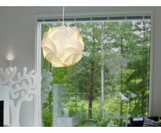 Lampada da soffitto in plastica bianca a forma di fiore - TAMBRE