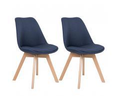 Set di 2 sedie da pranzo in colore blu scuro DAKOTA II