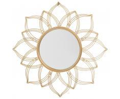 Specchio da parete in color oro ø 67 cm MILLY