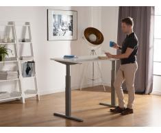 Scrivania elettrica regolabile bianco-grigio 160 x 70 cm UPLIFT