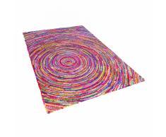 Tappeto in tessuto multicolore 140 x 200 cm MALATYA