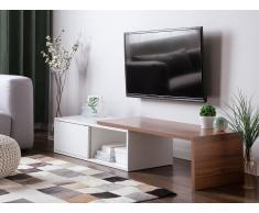 Mobile TV in legno bianco e scuro YONKERS