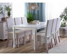 Tavolo da pranzo in legno bianco 180 x 90 CARY