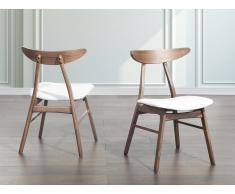 Sedia - Sedia da pranzo - In similpelle bianca - LYNN