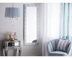Specchio da parete in color argento 50 x 130 cm MARANS