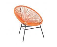Sedia moderna arancione stile spaghetti ACAPULCO