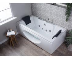 Vasca da bagno idromassaggio bianca con LED HAWES