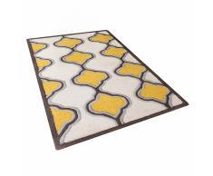 Tappeto rettangolare giallo beige - Tappeto moderno di design - 80x150cm - TIRE