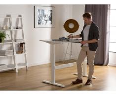 Scrivania elettrica regolabile bianca 160 x 70cm UPLIFT