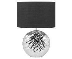 Lampada da tavolo in color argento NASVA