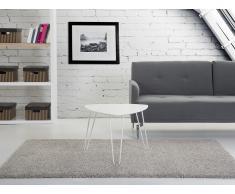 Tavolino da caffè - Tavolino basso - 60x45cm - Bianco - LILY