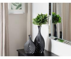 Vaso da fiori alto colore nero THAPSUS