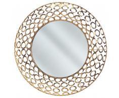 Specchio da muro in color oro ø80 cm BOURDON