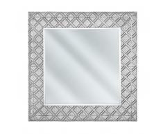 Specchio da parete in color argento 80x80 EVETTES
