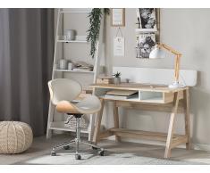 Scrivania in colore legno e bianco 110x60cm JACKSON