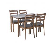 Set da pranzo in legno 4 persone, tavolo 118 cm MODESTO