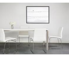 Set di 2 sedie da pranzo in metallo e pelle sintetica bianca - KIRON