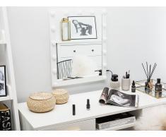 Specchio a LED da parete bianco 50 x 60 cm ODENAS