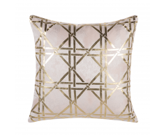 Cuscino decorativo geometrico 45x45cm rosa CASSIA