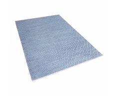 Tappeto moderno in cotone azzurro realizzato a mano - 160x230cm - AKSARAY