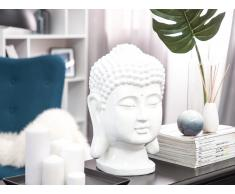 Statuetta decorativa bianca BUDDHA