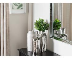 Vaso di fiori decorativo argento MOTYA