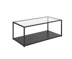 Tavolino in vetro e nero MEDORA
