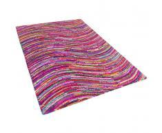 Tappeto multicolore rettangolare in cotone e poliestere - 80x150cm - KESAN