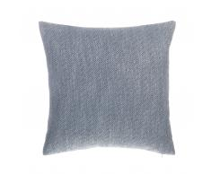 Cuscino decorativo a zig zag 45 x 45 cm grigio