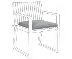 Cuscino per sedia da giardino grigio SASSARI