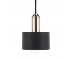 Lampadario in metallo color nero NARCEA