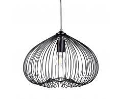 Lampadario moderno di design in metallo nero TORDINO